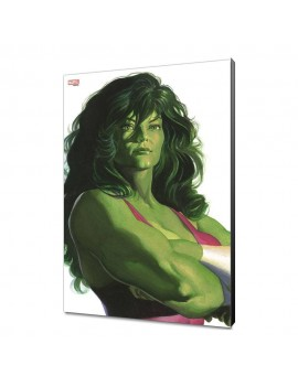 Marvel Avengers Collection Wooden Wall Art Alex Ross - She-Hulk 30 x 45 cm