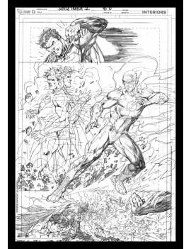 DC Comics Art Print Superman & Flash Comic Book Art Print 42 x 30 cm