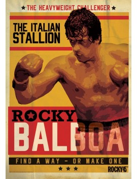 Rocky Art Print Rocky 45th Anniversary 42 x 30 cm
