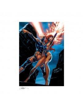 Marvel Comics Art Print Uncanny X-Men: Cyclops and Jean Grey 46 x 61 cm - unframed