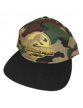 Jurassic Park Curved Bill Cap Gold Logo Camo