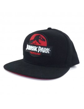 Jurassic Park Curved Bill Cap Red Logo
