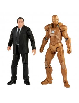 The Infinity Saga Marvel Legends Action Figure 2-Pack 2021 Happy Hogan & Iron Man (Iron Man 3) 15 cm