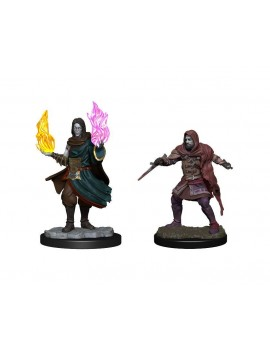 Critical Role Unpainted Miniatures Hollow One Rogue and Sorceror Male Case (2)