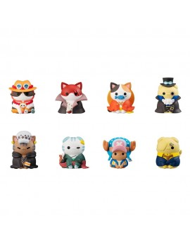 One Piece Mega Cat Project Trading Figure 3 cm NyanPieceNyan! Vol. 1 Assortment (8)