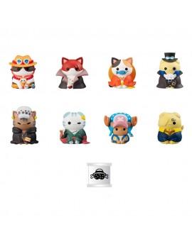 One Piece Mega Cat Project Trading Figures NyanPieceNyan! Vol. 1 Special Set 3 cm