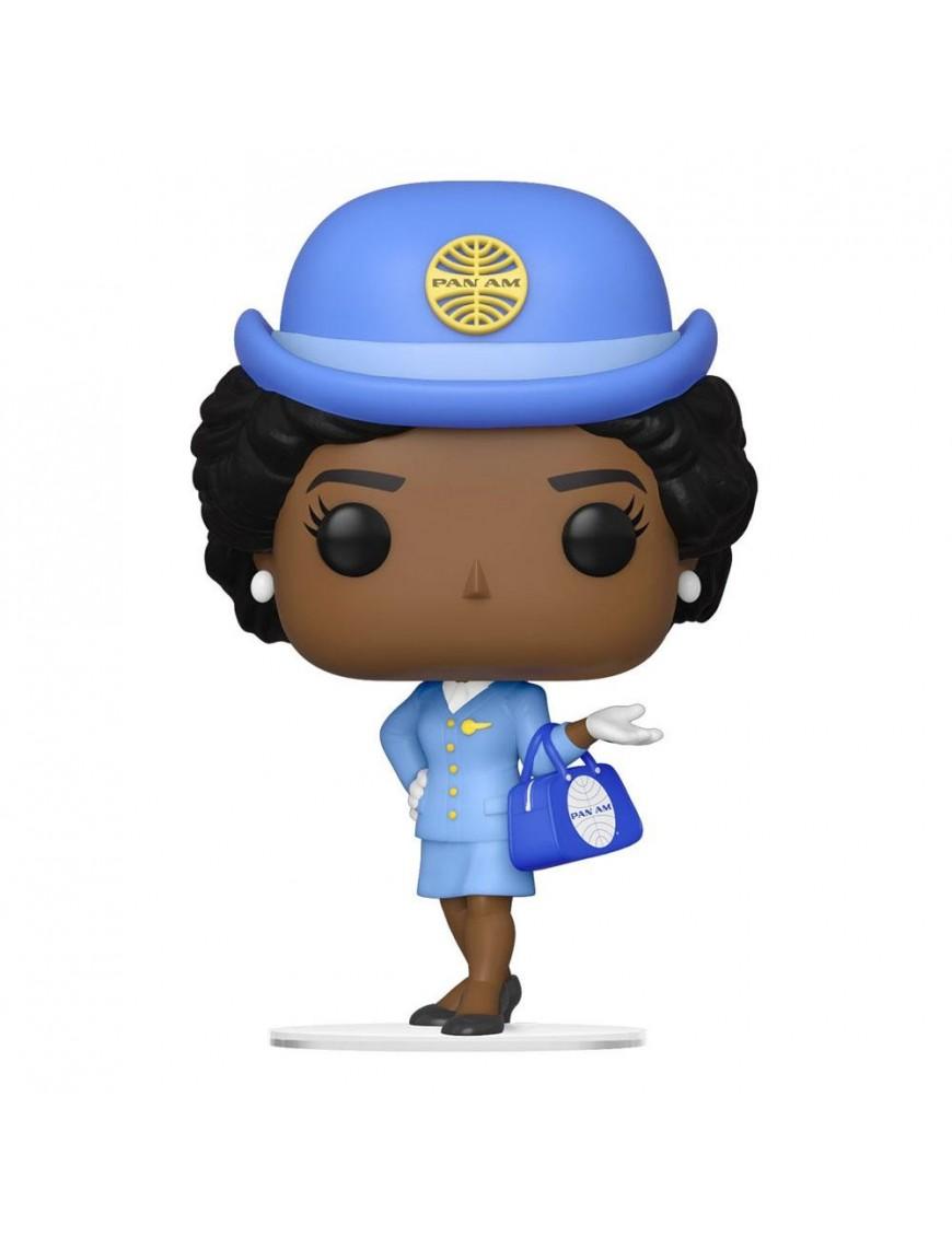 Pan Am POP! Ad Icons Vinyl Figure Stewardess w/Blue Bag 9 cm