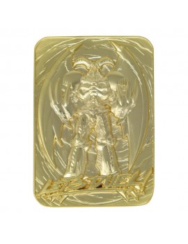 Yu-Gi-Oh! Replica Card Summoned Skull (gold plated)