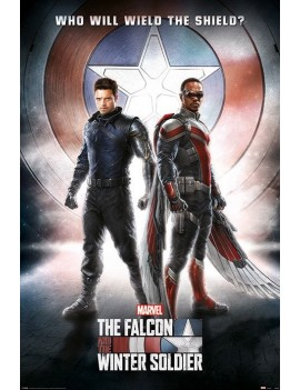 The Falcon and the Winter Soldier Poster Pack Wield The Shield 61 x 91 cm (5)
