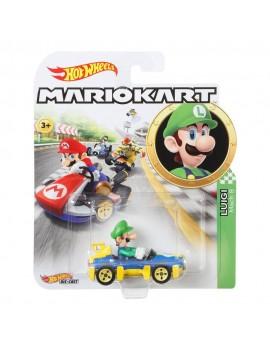 Mario Kart Hot Wheels Diecast Vehicle 1/64 Luigi (Mach 8) 8 cm