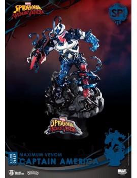 Marvel Comics D-Stage PVC Diorama Maximum Venom Captain America Special Edition 16 cm