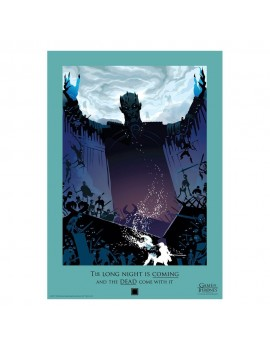 Game of Thrones Art Print Night King Limited Edition 42 x 30 cm