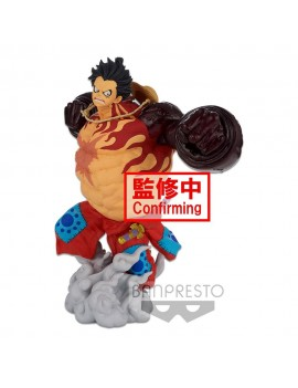 One Piece BWFC 3 Super Master Stars Piece Statue Monkey D. Luffy Gear4 The Original 22 cm