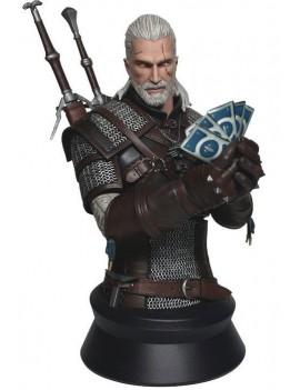 Witcher 3 Wild Hunt Bust Geralt Playing Gwent 23 cm