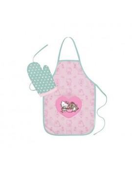 Pusheen Apron & Oven Glove Set Hello Kitty