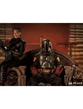 Star Wars The Mandalorian Deluxe Art Scale Statue 1/10 Boba Fett & Fennec on Throne 23 cm