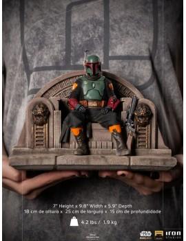 Star Wars The Mandalorian Deluxe Art Scale Statue 1/10 Boba Fett on Throne 18 cm