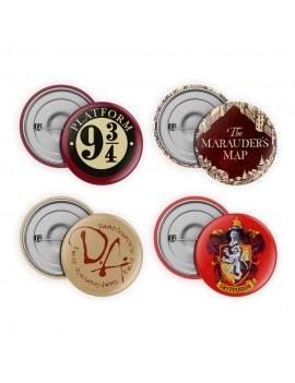 Harry Potter Pin-Back Buttons 4-Pack Collection