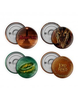 Lord of the Rings Pin-Back Buttons 4-Pack Collection