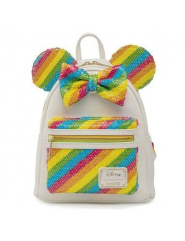 Disney by Loungefly Backpack Sequin Rainbow Minnie