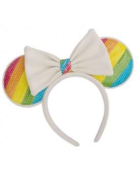 Disney by Loungefly Headband Sequin Rainbow Minnie Ears
