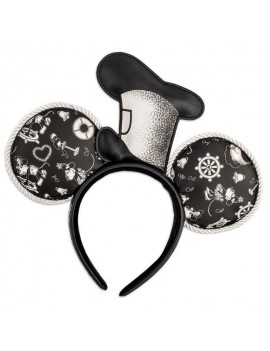Disney by Loungefly Headband Steamboat Willie Applique Hat Rope Piping Ears