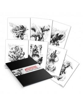 Dungeons & Dragons Lithograph 7-Set 36 x 28 cm