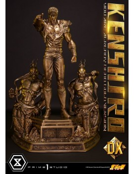 Fist of the North Star Statue 1/4 Kenshiro You Are Already Dead Deluxe Gold Version 71 cm