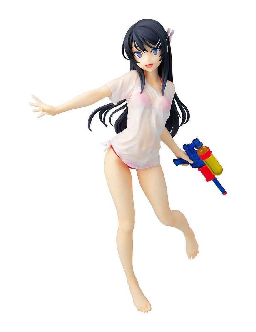 Rascal Does Not Dream of Bunny Girl Senpai Statue 1/7 Mai Sakurajima Water Gun Date Ver. 23 cm