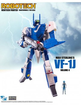 Robotech Veritech Micronian Pilot Collection Action Figure 1/100 Max Sterling VF-1J 15 cm