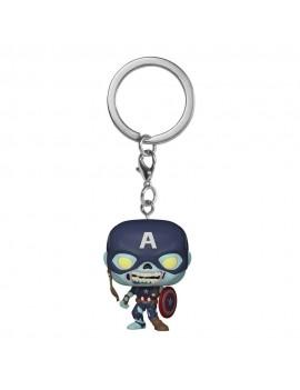 Marvel What If...? Pocket POP! Vinyl Keychains 4 cm Zombie Captain America Display (12)