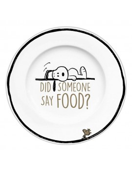 Peanuts Plate Did Someone Say Food