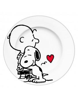 Peanuts Plate Snoopy & Charlie