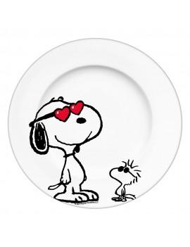 Peanuts Plate Snoopy & Woodstock
