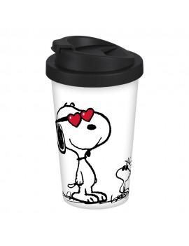 Peanuts Travel Mug Snoopy and Woodstock