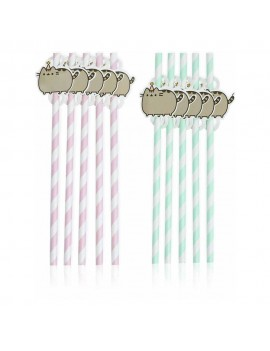 Pusheen Party Straw 10-Pack The Cat