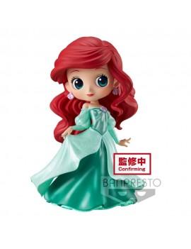 Disney Q Posket Mini Figure Ariel Princess Dress Glitter Line 14 cm