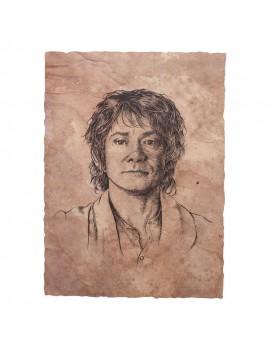The Hobbit Art Print Portrait of Bilbo Baggins 21 x 28 cm