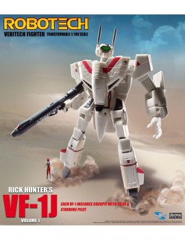 Robotech Veritech Micronian Pilot Collection Action Figure 1/100 Rick Hunter VF-1J 15 cm