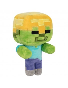 Minecraft Happy Explorer Plush Figure Gold Helmet Zombie 18 cm