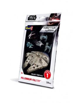 Star Wars Level 2 Easy-Click Snap Model Kit Series 1 Millenium Falcon