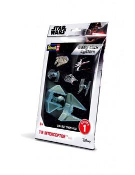 Star Wars Level 2 Easy-Click Snap Model Kit Series 1 TIE Interceptor