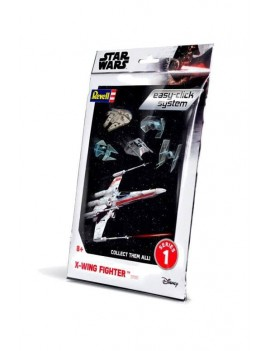 Star Wars Level 2 Easy-Click Snap Model Kit Series 1 X-Wing Fighter