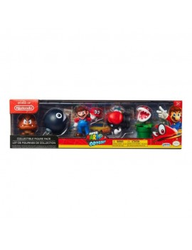 World of Nintendo Mini Figure 5-Pack Super Mario Odyssey Theme 6 cm
