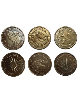 A Song of Ice and Fire Coin Set Half-Pennies of 6 Houses
