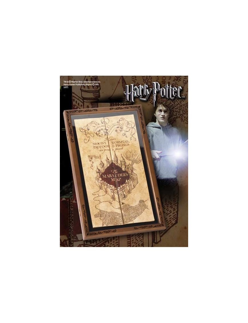 Harry Potter Marauder´s Map Display Case on map cigarette case, map china, map stand, gps case, map banner, map jacket, map northern hemisphere, map cabinet, map presentation case, map tools,
