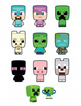 Minecraft Mobbins Mini Figures 5 cm Series 1 Blind Boxes Display (26)