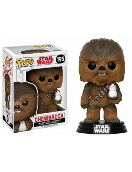 Star Wars Episode VIII POP! Vinyl Bobble-Head Chewbacca & Porg 9 cm