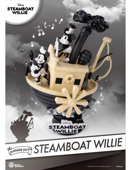 Steamboat Willie D-Stage PVC Diorama Mickey & Minnie 15 cm