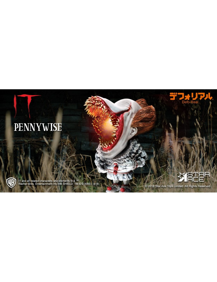 Defo Real Soft Vinyl Statue It Scary Version with Light Pennywise